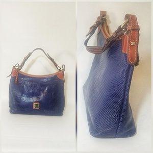 Dooney & Bourkey Leather Shoulder Bag + Dust Bag
